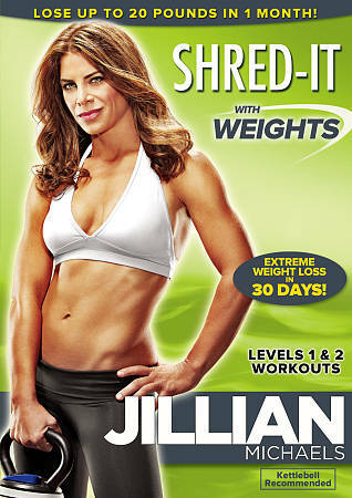 Jillian Michaels: Shred-It With Weights, Good DVD, ,