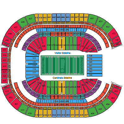 (2) Arizona Cardinals vs Seattle Seahawks Tickets 12/21/14 Lower Level + Parking