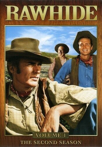Rawhide - The Second Season, Vol. 1, Good DVD, Eric Fleming, Clint Eastwood,