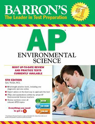 Barron's AP Environmental Science with CD-ROM, 5th Edition (Barron's AP Environm