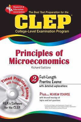 CLEP Principles of Microeconomics w/ CD-ROM (CLEP Test Preparation), Good Books