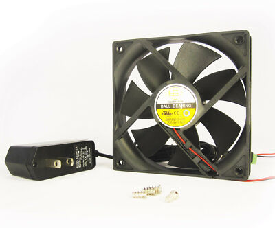 120mm 25mm New Case Fan Kit 110V 115V 120V AC 123CFM Ball Brg PC Cooling 1350A*