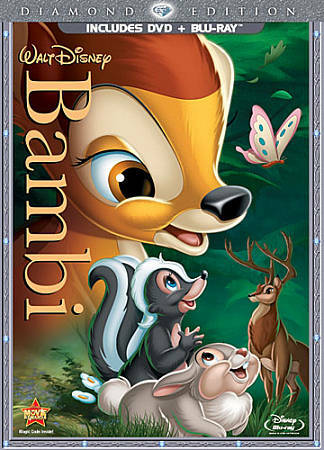 Bambi (Two-Disc Diamond Edition Blu-ray/DVD Combo in DVD Packaging), Good DVD, H