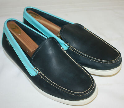 Mens Eastland Redington Limited Edition Venetian Camp Moc Navy/Turquoise Sz 10D