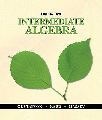 Intermediate Algebra, 9th Edition, Good Books