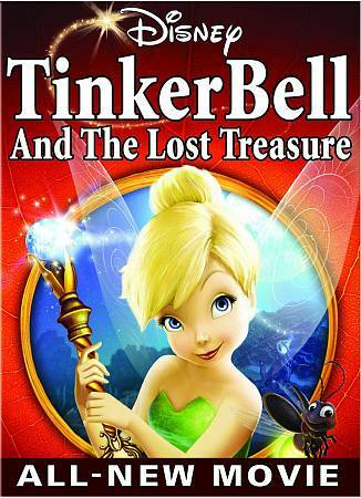 Tinker Bell and the Lost Treasure, Good DVD, Mae Whitman, Angelica Huston, Jesse