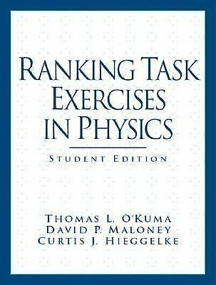 Ranking Task Exercises in Physics: Student Edition, Good Books