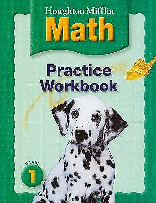Houghton Mifflin Math: Grade 1, Practice Workbook, Greenes, Good Book