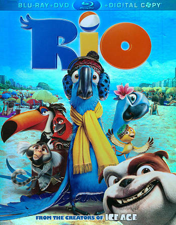 Rio (Blu-ray/ DVD Combo + Digital Copy), Good DVD, Anne Hathaway, Jesse Eisenber