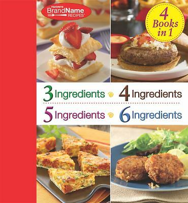 4 Cookbooks in 1: 3 Ingredients; 4 Ingredients; 5 Ingredients; 6 Ingredients (Fa