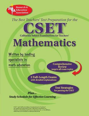 CA CSET Math 7-12 (REA) - The Best Teachers' Test Prep for the Cset, Good Books