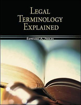 Legal Terminology Explained (Mcgraw-Hill Business Careers Paralegal Titles), Goo