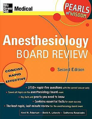 Anesthesiology Board Review: Pearls of Wisdom by Wahl, Kerri, Lubarsky, David,