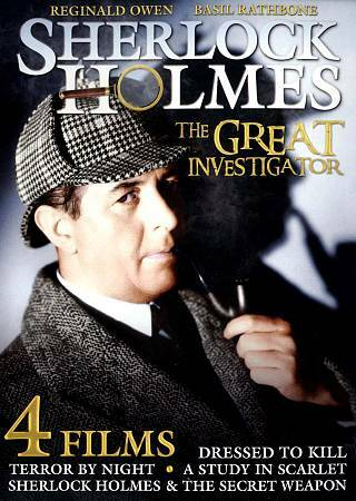 SHERLOCK HOLMES : The Great Investigator (DVD, 2012) - 4 MOVIES - NEW IN WRAP