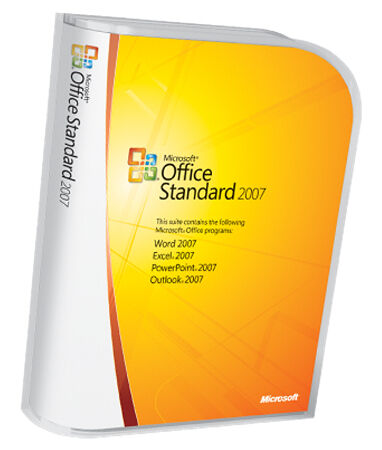 Microsoft Office Standard 2007 Upgrade includes Case, Disk and License Key