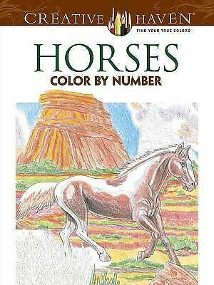 Creative Haven Horses Color by Number Coloring Book (Creative Haven Coloring Bo