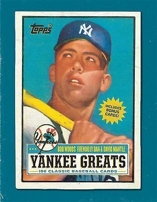 Yankee Greats : 100 Classic Baseball Cards by Bob Woods (2012, Hardcover)