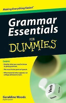 Grammar Essentials For Dummies, Woods, Geraldine, Good Book