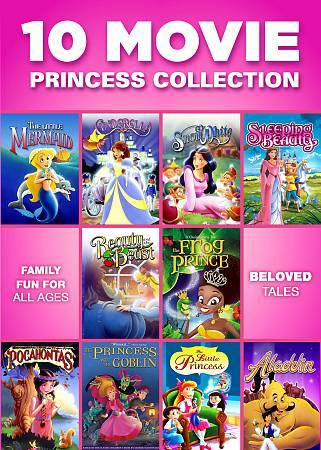 10 Movie Princess Collection, Good DVD, Various, Gaiam