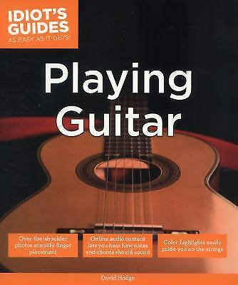 Idiot's Guides: Playing Guitar, Hodge, David, Good Book