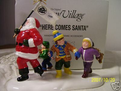 Department 56 Here Comes Santa Ltd Edition 1996 MIB