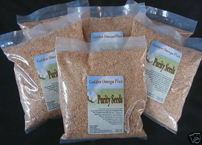 (6)  2 lb. bags golden omega  flax seed