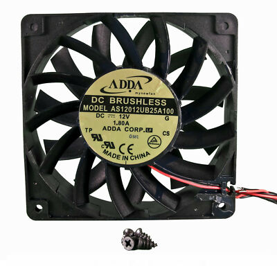 120mm 25mm New Case Fan 12V 161CFM Ball Brg Waterproof to IP55 4 Screws 325a*