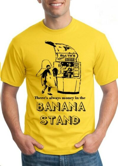 there's always money in the BANANA STAND tee shirt tshirt new Yellow funny man