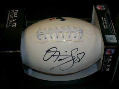 Authentic Owen Daniels Signed Houston Texans Logo Football