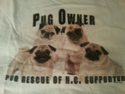 PUG T-SHIRT PUG OWNER AND SUPPORTER SHORT SLEEVE  (SIZE XL ONLY) NEW ON SALE