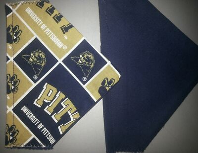 UNIVERSITY OF PITTSBURGH HOMEMADE 2 SIDED DOG SCARF (PICK SIZE)