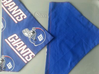 NEW YORK GIANTS NFL HOMEMADE 2 SIDED DOG SCARF  (PICK SIZE)