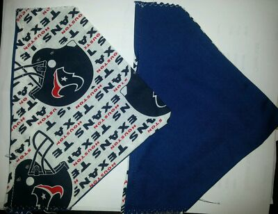 HOUSTON TEXANS NFL HOMEMADE 2 SIDED DOG SCARF (PICK SIZE)