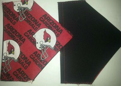ARIZONA CARDINALS NFL HOMEMADE 2 SIDED DOG SCARF (PICK SIZE)