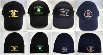 BOSTON STRONG BASEBALL CAPS RED SOX BRUINS PATRIOTS CELTS