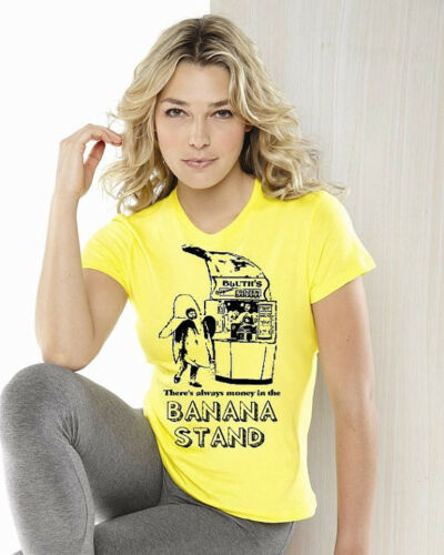 there's always money in the BANANA STAND tee shirt tshirt Yellow womens lady