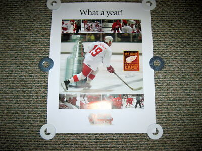 """DETROIT RED WINGS """"WHAT A YEAR"""" 1997 TRAINING CAMP POSTER * RARE*"""