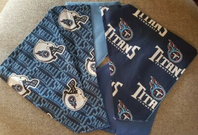 TENNESSEE TITANS NFL HOMEMADE 2 SIDED DOG SCARF (PICK SIZE)