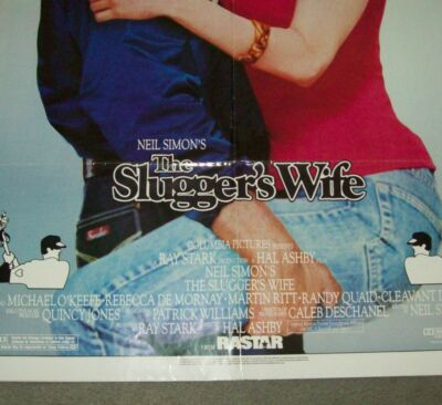 """ORIGINAL MOVIE THEATRE ADVERTISING POSTER """"THE SLUGGER'S WIFE"""" FROM 1985"""