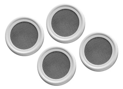 4 pack - Stainless Strainer / Sprouting lids for wide mouth mason / canning jars