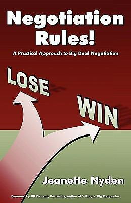 Negotiation Rules: A Practical Guide To Big Deal Negotiation, Good Books
