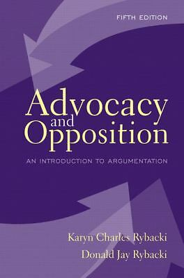Advocacy and Opposition: An Introduction to Argumentation (5th Edition), Good Bo