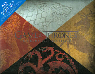 Game Of Thrones: Complete First Season 1 (Blu-Ray +DVD) NEW UNOPENED