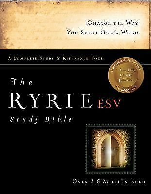 The Ryrie ESV Study Bible Hardback Red Letter (Ryrie Study Bible ESV Version), G
