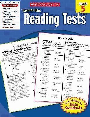 Scholastic Success With Reading Tests, Grade 5 (Scholastic Success with Workboo