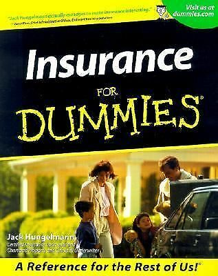Insurance for Dummies® by Jack Hungelmann (2001, Paperback)