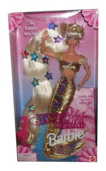 Jewel Hair Mermaid 1995 Barbie Doll