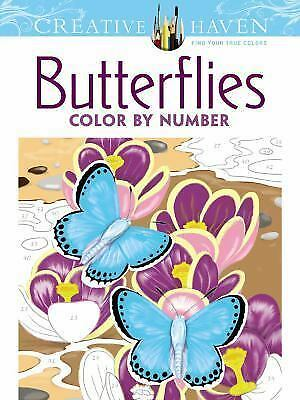Creative Haven Butterflies Color by Number Coloring Book (Adult Coloring) Creati