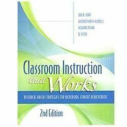 Classroom Instruction That Works: Research-Based Strategies for Increasing Stude