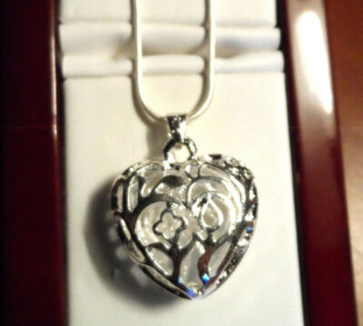 "New 925 SILVER HEART Necklace Set Filigree Pendant & Chain included 16""-20"""